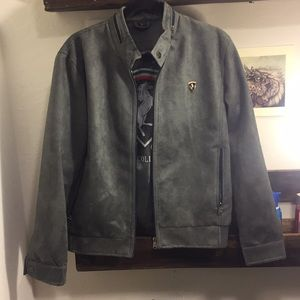 VG World Collection Grey Suede Jacket